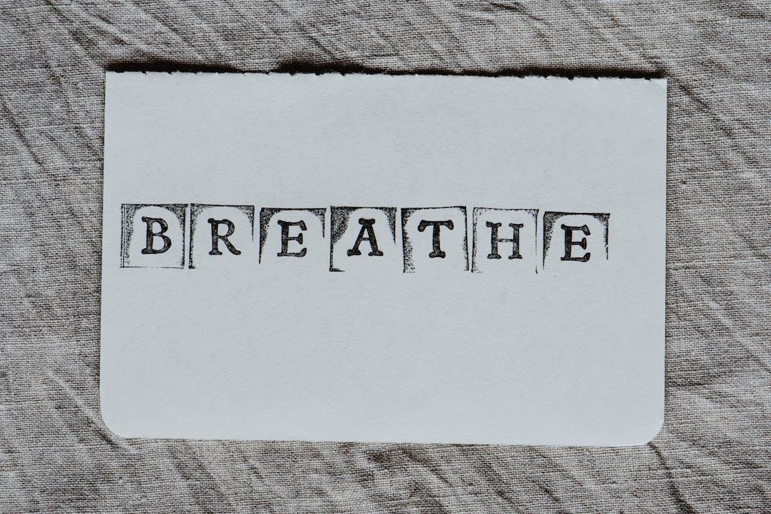"""Breath"" Word on a White Card"