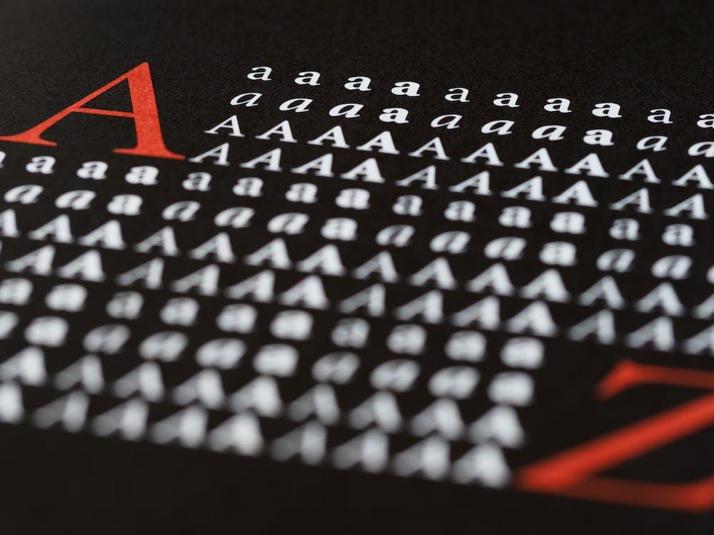 Ingyenes stockfotó ábécé, adat, betűk témában