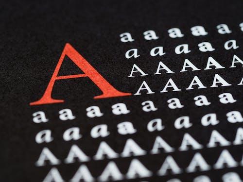 Foto d'estoc gratuïta de abstracte, adobe, alfabet