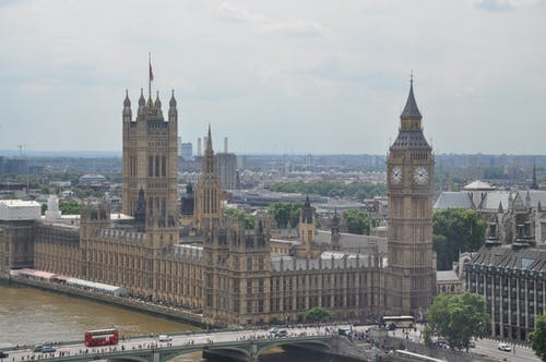 Scenery of the Famous Palace of Westminster and Big Ben in London