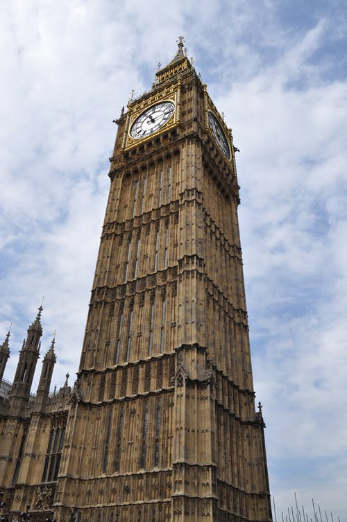 Low-Angle Shot of the Famous Big Ben in London