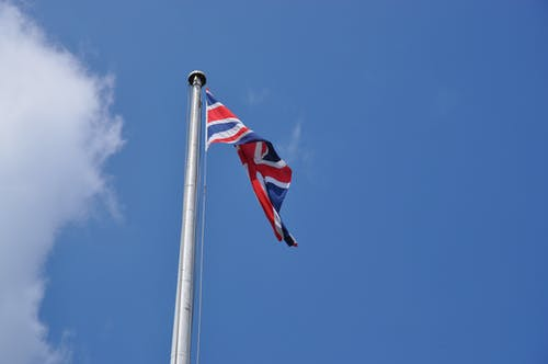 Low-Angle Shot of Flag of the United Kingdom