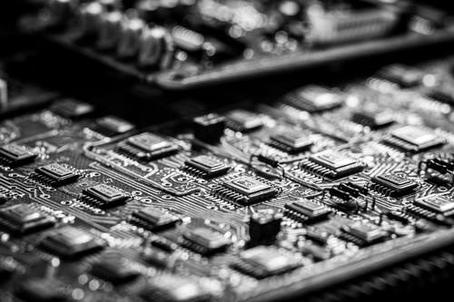 Foto profissional grátis de capacitores, display, eletrônicos
