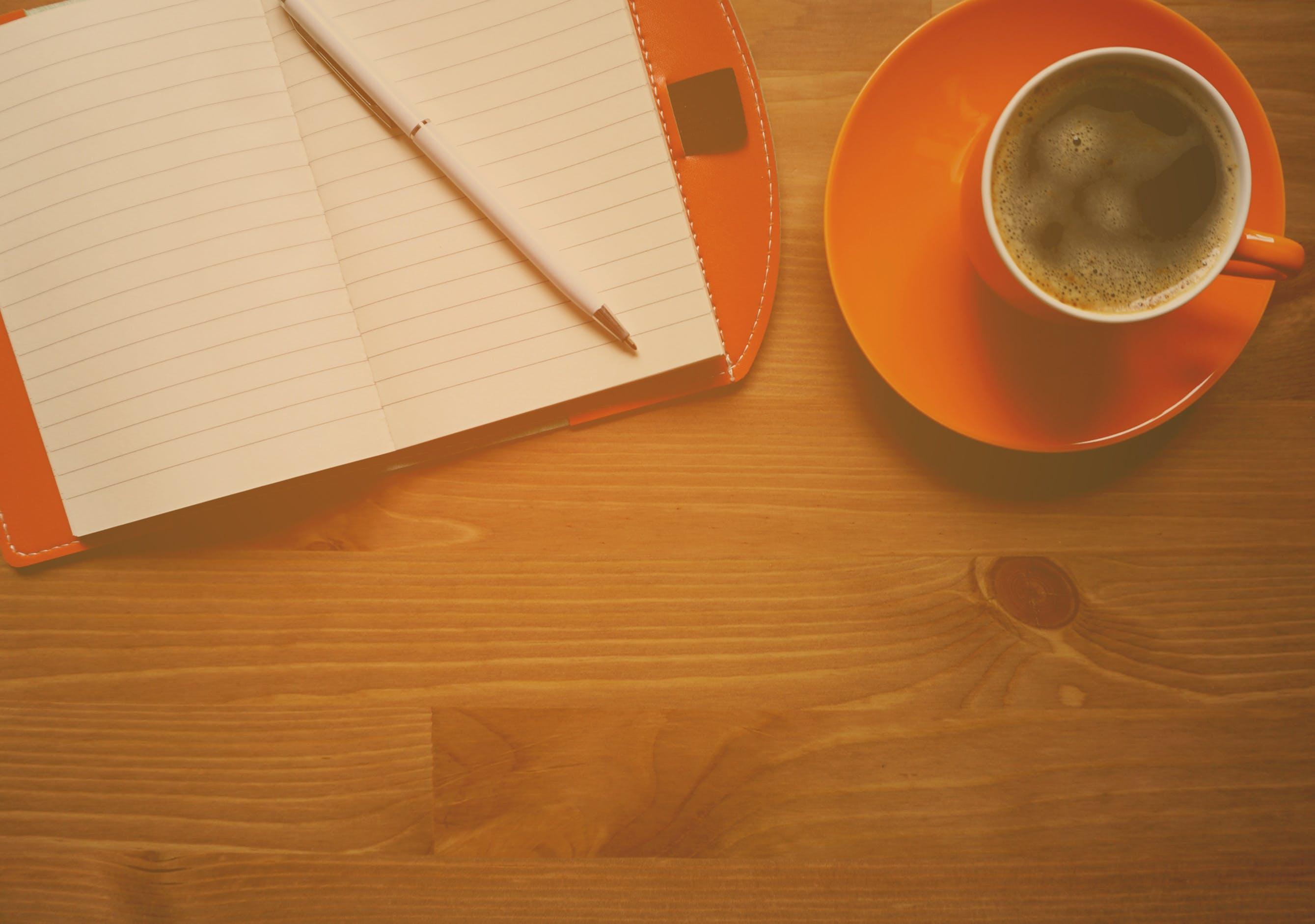Orange Cup on Saucer