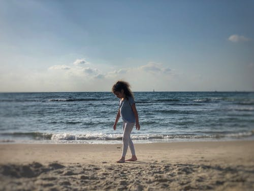 Free stock photo of beach, kids, sea