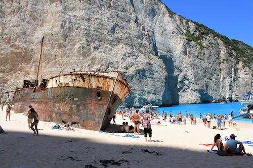 People at Shipwreck Beach