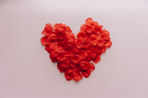 Heart Made with Petals