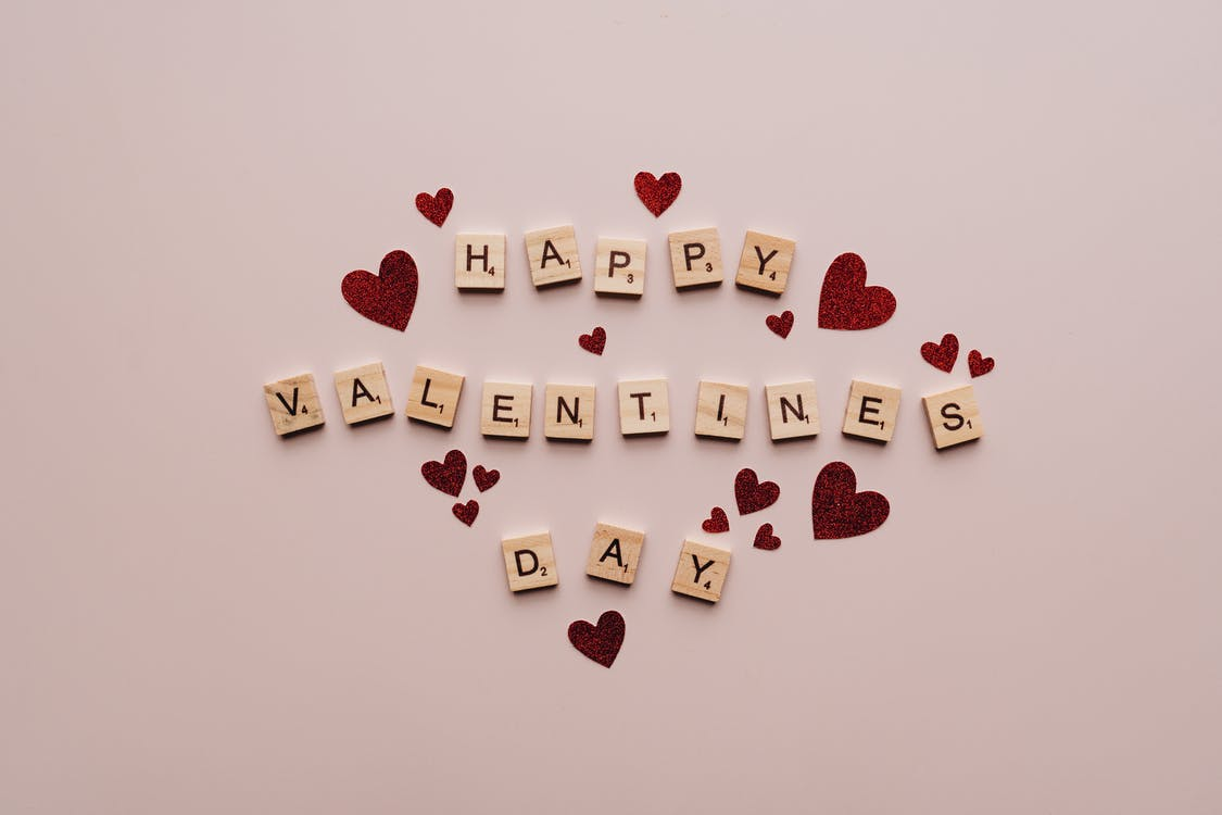 Happy Valentine's Day Text On Pink Surface
