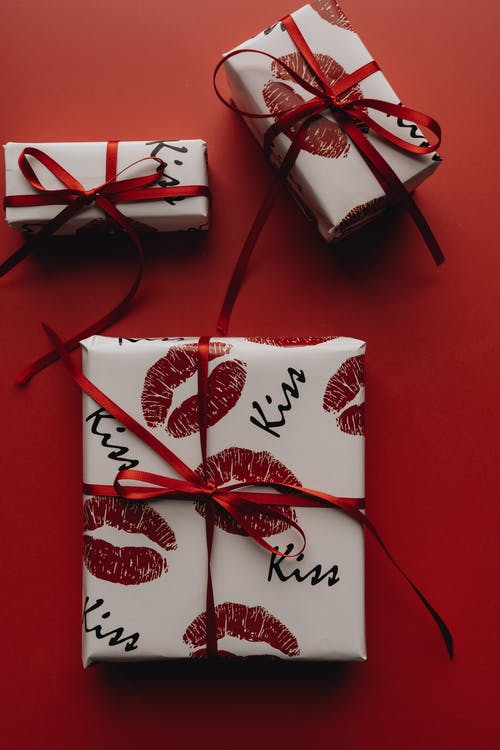 Gifts on Red Surface
