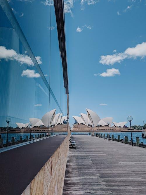 거울 사진, 거울 효과, 관광 명소의 무료 스톡 사진