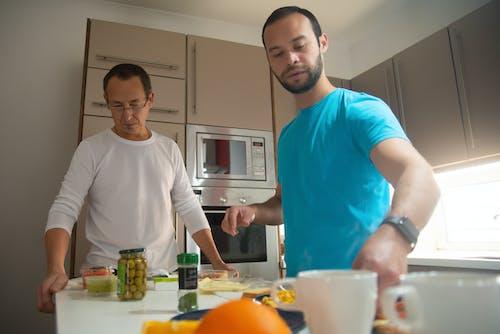 Men Preparing Breakfast