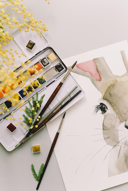 Fotos de stock gratuitas de acuarelas, adentro, Arte, Arte y manualidades