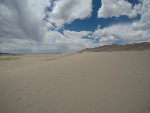 Free stock photo of clouds over the sand, desert clouds