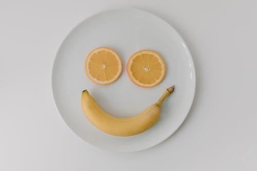 俯視圖, 早餐, 橙片 的 免費圖庫相片