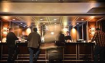 menschen, hotel, bar