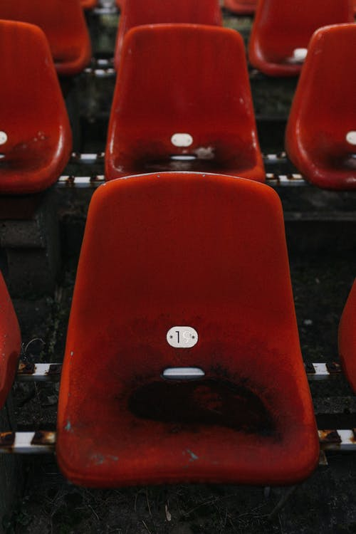 Red and Black Metal Chairs