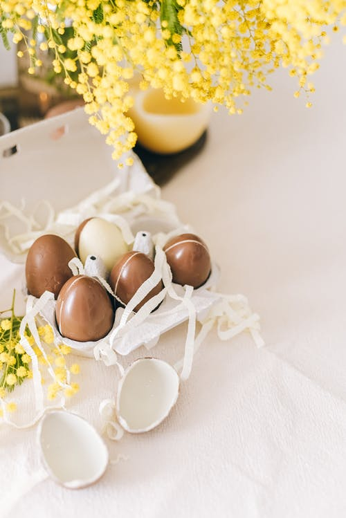 Brown Eggs On Table