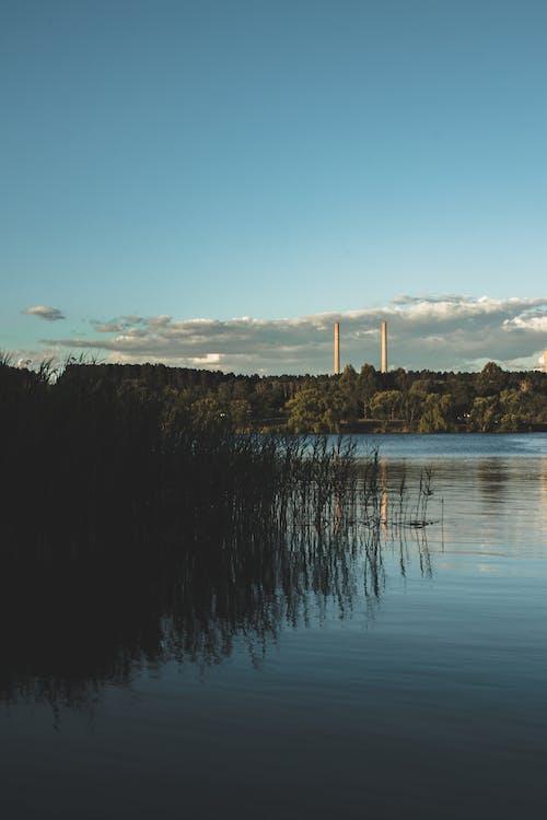 Free stock photo of blue, chimney, concrete