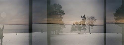 Foto profissional grátis de 28mm, 35 mm, água, alvorecer