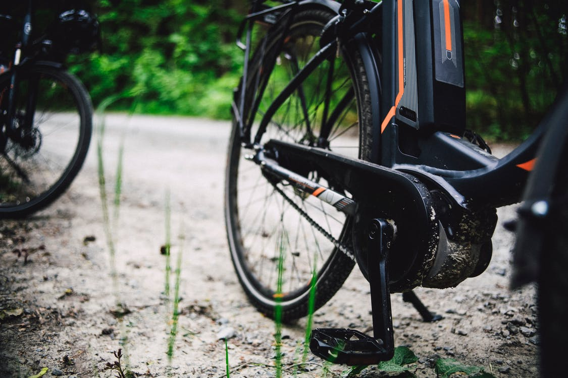 Black Bicycle on Green Grass