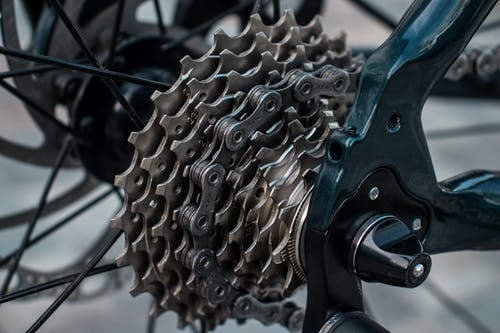 Free stock photo of bicycle, bike, cassette, chain