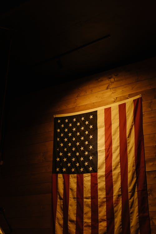 Us a Flag on Wall