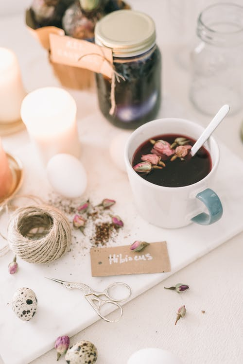 Tea With Hibiscus Leaves