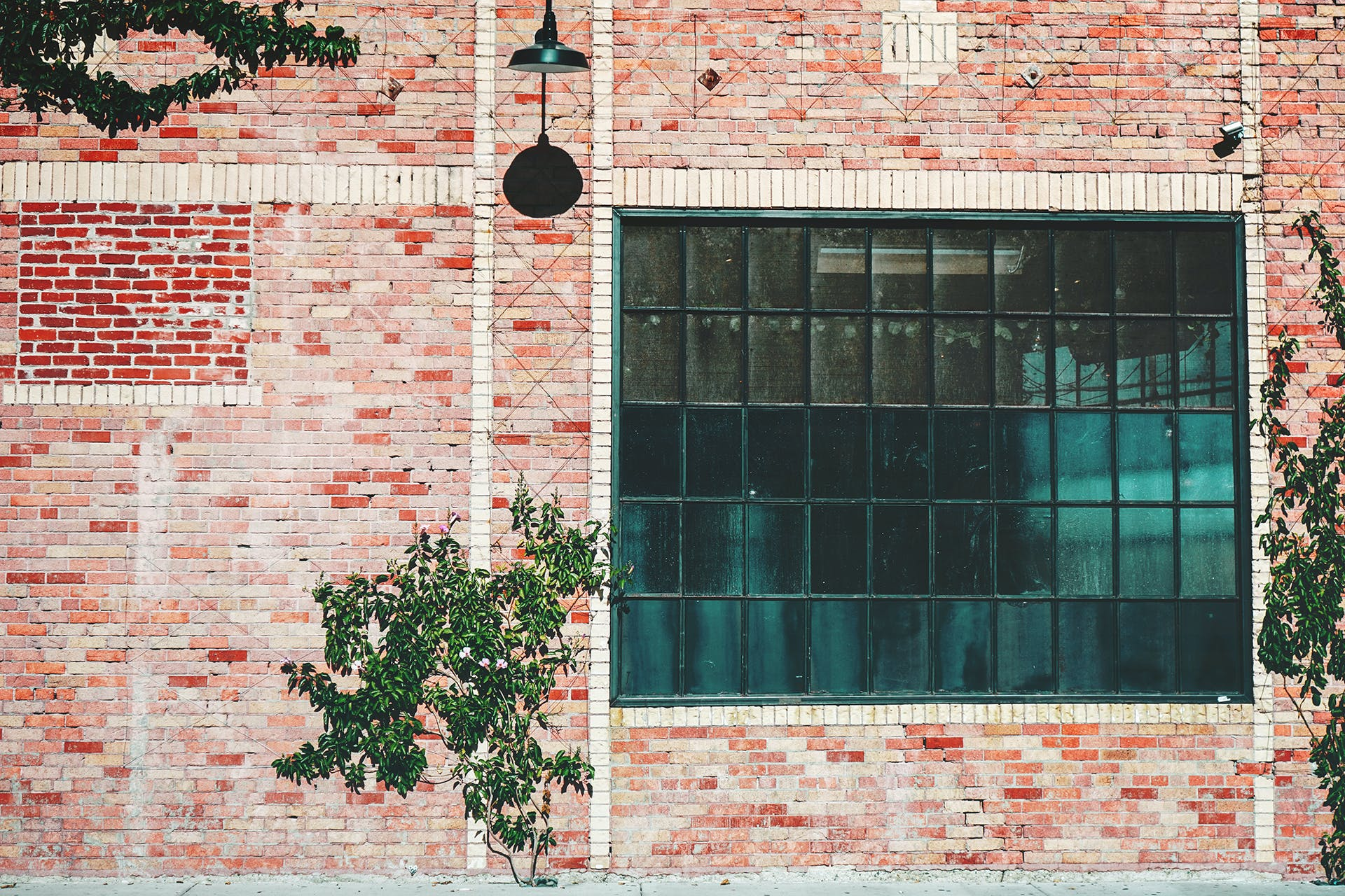 Brown and Red Concrete Brick Building