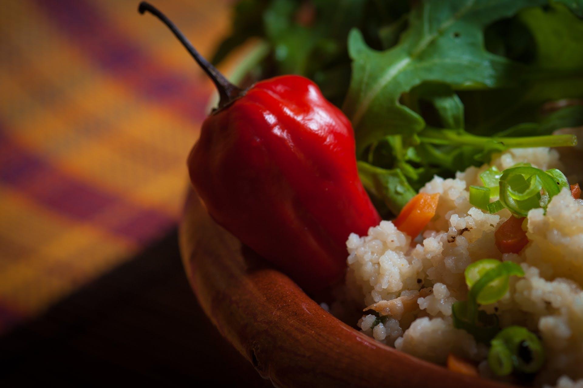 Kostenloses Stock Foto zu chili-pfeffer, couscous, essen, pfeffer