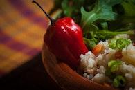 food, rucola, chili pepper