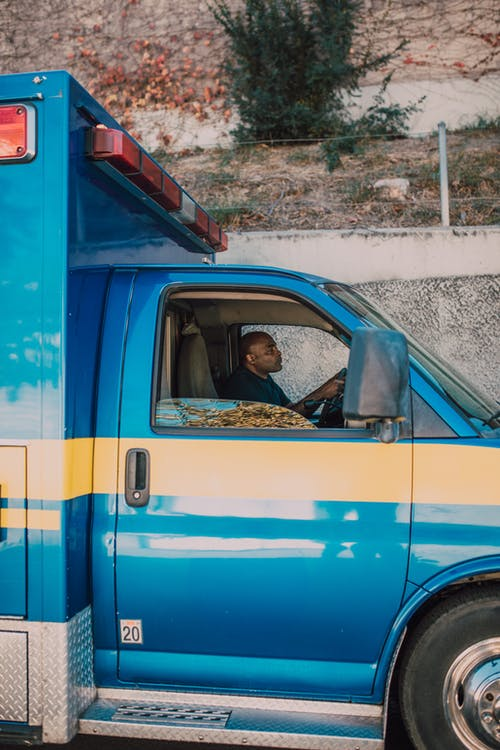 EMT Sitting on the Driver's Seat