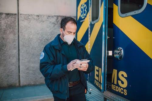 Paramedic Wearing a Mask