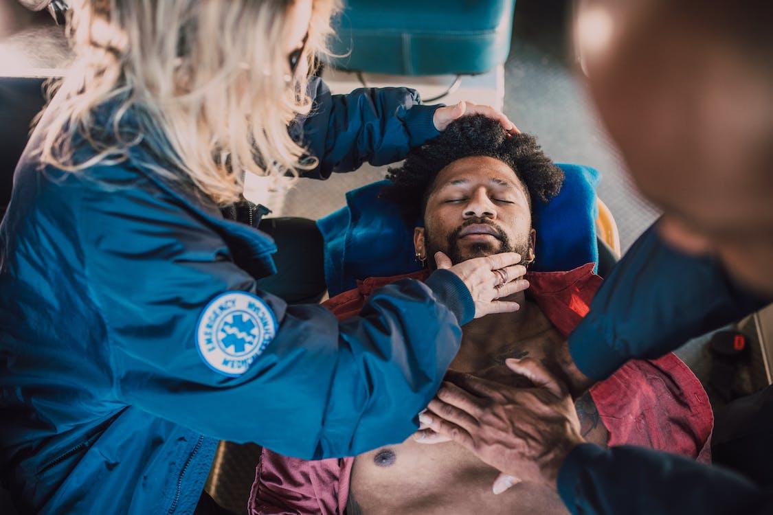 Paramedic Performing CPR
