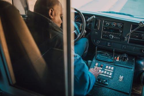 Man Driving An Ambulance