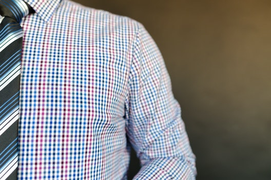 Man Wearing Multicolored Shirt