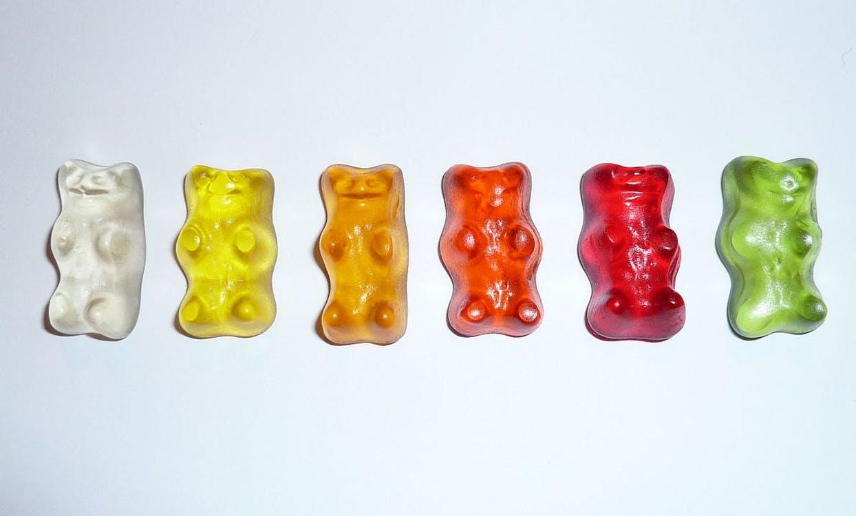beruang gummi, cute, gummy bear