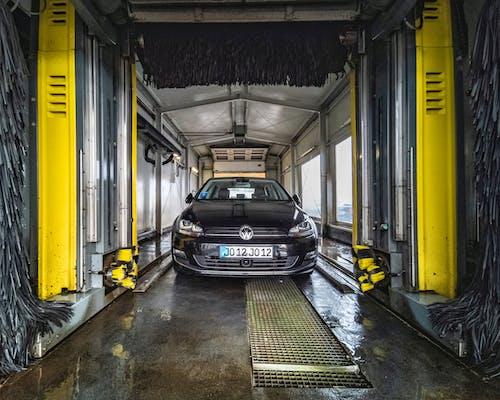 Black Car Inside the Carwash