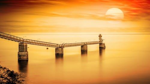 Free stock photo of Bay Bridge, by the sea, calm