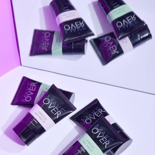 Black and Purple Plastic Packs
