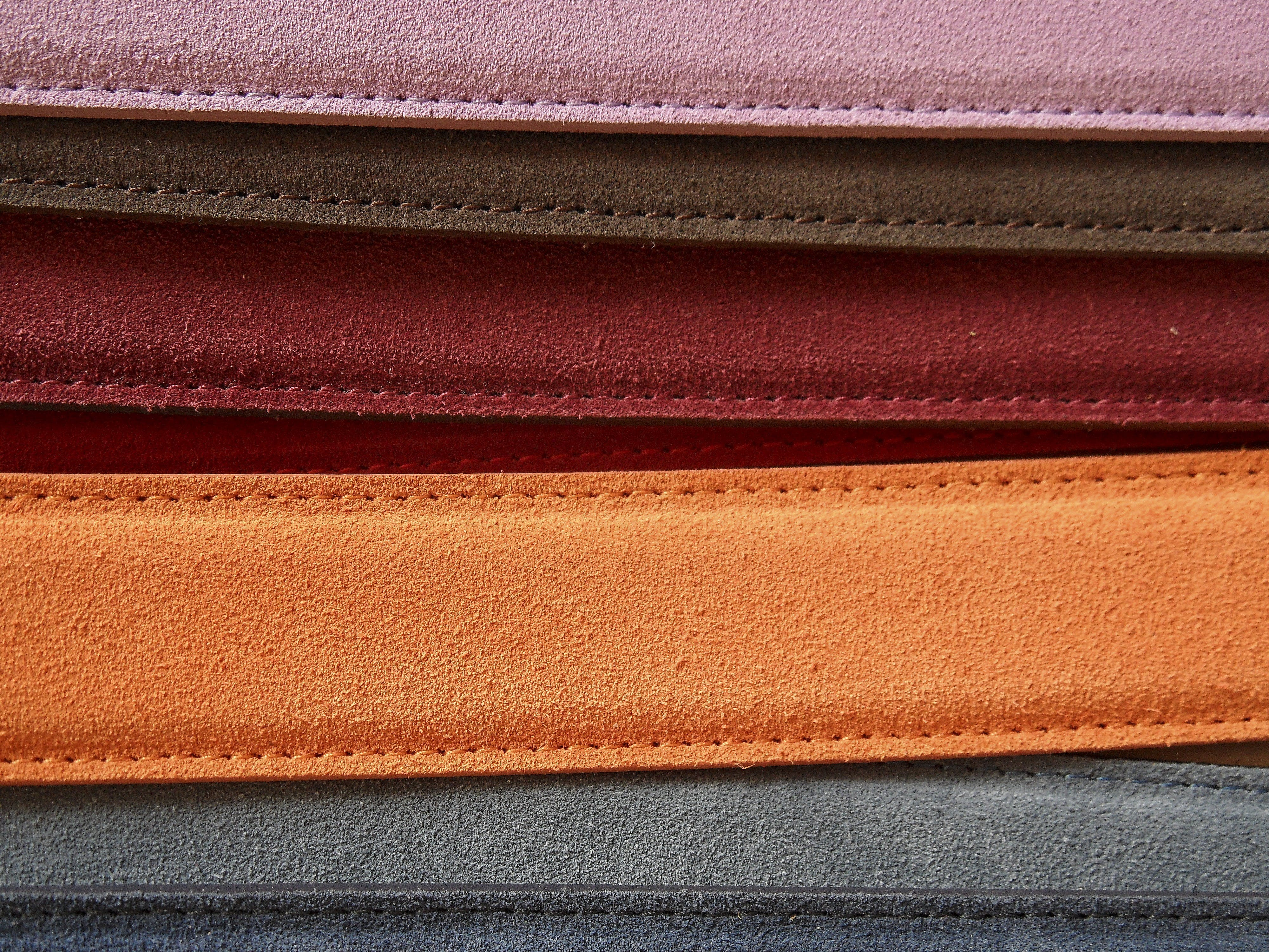 bälten, färger, läder