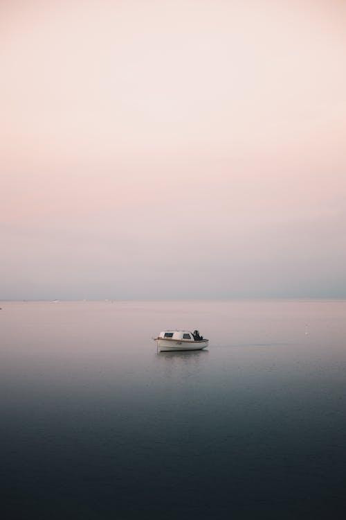 White Boat Sailing on the Sea
