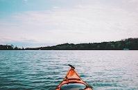 lake, kajak, kayak