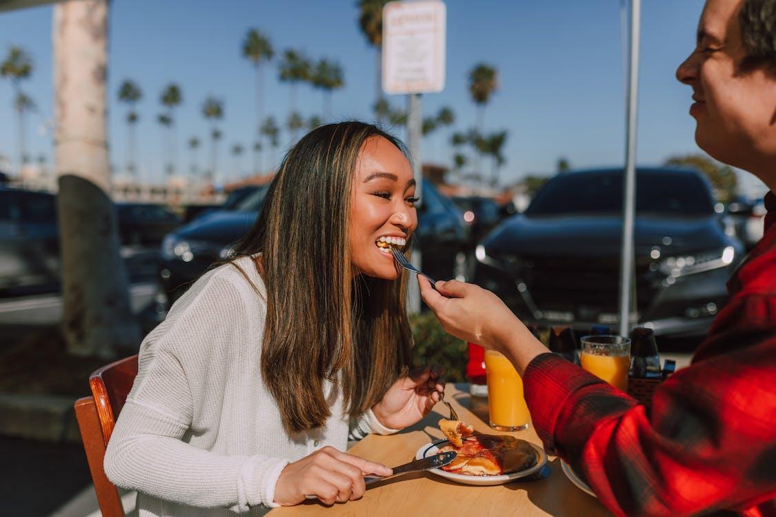 Couple Eating Pancakes