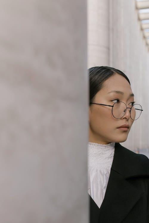 Imagine de stoc gratuită din brunetă, caută în lateral, femeie asiatică