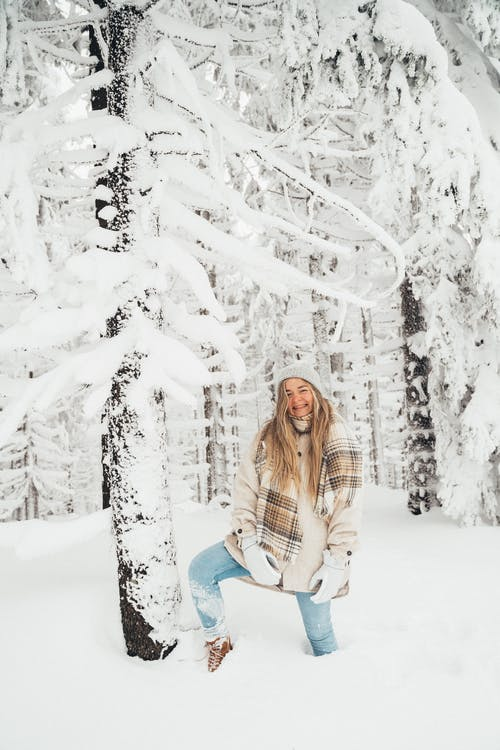 Woman's Leg Stuck on Thick Snow