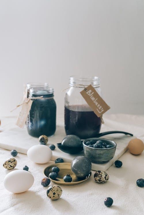 Foto stok gratis barang kaca, benda kaca, blueberry, botol
