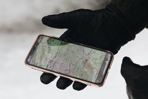 人, 冬季, 地圖, 城市 的 免费素材图片