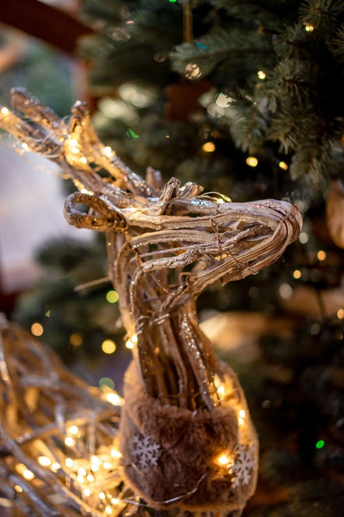 Gold Dragon Figurine on Christmas Tree