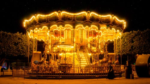 Free stock photo of amusement ride, building, carnival