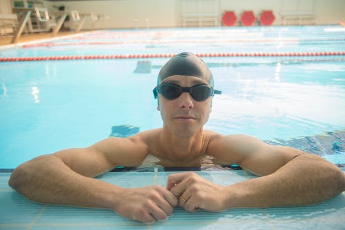 A Swimmer Looking at the Camera